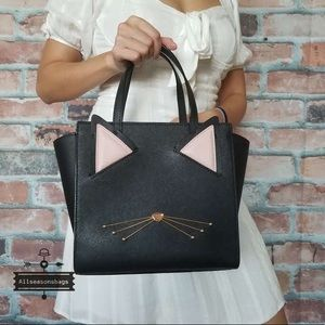 Kate spade meow small cat Hayden black crossbody